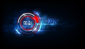 Abstract Futuristic Technology Background with Digital number ti royalty free illustration
