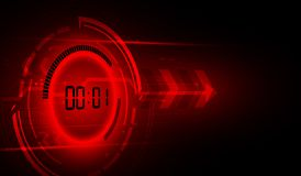Abstract Futuristic Technology Background with Digital number timer concept and countdown, vector transparent. Eps10 royalty free illustration