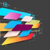Abstract futuristic technology business background Stock Photography