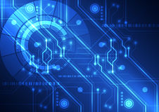 Abstract Futuristic Technology Circuit Board Background, Vector Illustration Royalty Free Stock Photos