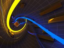 Abstract futuristic tunnel Stock Photo