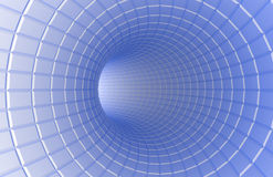 Abstract futuristic tunnel Royalty Free Stock Photography
