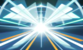 Abstract futuristic tunnel background Royalty Free Stock Image