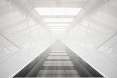 Abstract futuristic tunnel. Interior. 3D Rendering Royalty Free Stock Photo