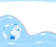 Abstract futuristic vector - globe Royalty Free Stock Photo