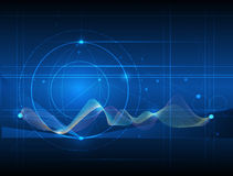 Abstract futuristic wave-digital  technology concept Royalty Free Stock Photography