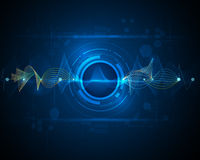 Abstract futuristic wave-digital  technology concept Stock Photos