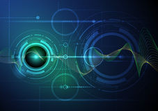 Abstract futuristic wave-digital  technology concept Royalty Free Stock Images