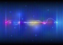Abstract futuristic wave-digital  technology concept Royalty Free Stock Photo