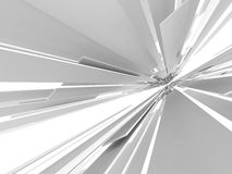 Abstract Futuristic White 3d Background. 3d render illustration Royalty Free Stock Photos