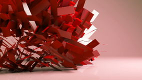 Abstract futuristicgeometric transformation motion graphic background stock footage