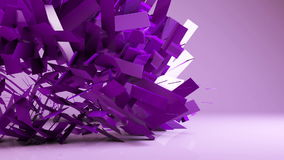 Abstract futuristicgeometric transformation motion graphic background stock video footage