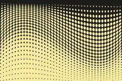 Abstract futuristisch halftone patroon Grappige achtergrond De gestippelde achtergrond met cirkels, punten, richt grote schaal Zw Royalty-vrije Stock Foto's