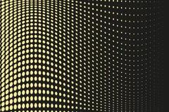 Abstract futuristisch halftone patroon Grappige achtergrond De gestippelde achtergrond met cirkels, punten, richt grote schaal Zw Stock Afbeelding