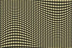 Abstract futuristisch halftone patroon Grappige achtergrond De gestippelde achtergrond met cirkels, punten, richt grote schaal Zw Royalty-vrije Stock Foto