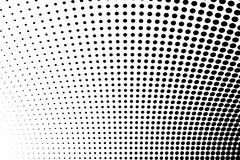 Abstract futuristisch halftone patroon Grappige achtergrond De gestippelde achtergrond met cirkels, punten, richt grote schaal Zw vector illustratie