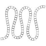 Abstract futuristisch labyrint, het malplaatje van het zigzagpatroon voor kinderen` s spelen, witte vierkanten Zwarte die contour vector illustratie