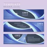 Abstract futuristisch ontwerp voor geplaatste banners Royalty-vrije Stock Fotografie