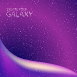 Abstract galaxy background with milky way, stardust, nebula and bright shining stars.  Stock Photography