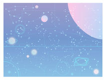 Abstract galaxy, hipster constellations  wallpaper. Vector file EPS10 Stock Image