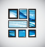 Abstract Gallery Background with Frame and Beautiful Wave. Vecto Royalty Free Stock Images