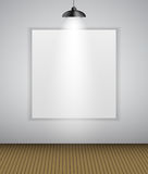 Abstract Gallery Background with Lighting Lamp and Frame. Empty Space for Your Text or Object. Royalty Free Stock Photos