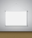 Abstract Gallery Background with Lighting Lamp and Frame. Empty Space for Your Text or Object. Stock Photography