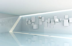 Abstract Gallery Interior stock illustration