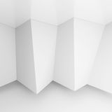 Abstract Gallery Interior. 3d Rendering of Abstract Gallery Interior. White Modern Architecture Background Royalty Free Stock Photos