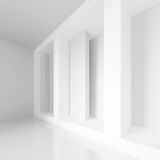 Abstract Gallery Interior. 3d Rendering of Abstract Gallery Interior. White Modern Architecture Background Royalty Free Stock Photography