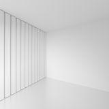 Abstract Gallery Interior. White Retro Architecture Background. Royalty Free Stock Images