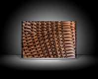 Abstract gallery woven wood basket Stock Photos