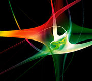Abstract galxy fractal vector illustration