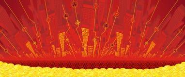 Abstract gambling city Royalty Free Stock Photos