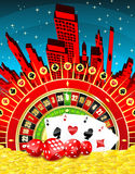 Abstract gambling city Royalty Free Stock Photography