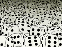 Abstract gambling composition - dices Royalty Free Stock Photos