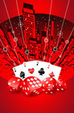 Abstract gambling illustration Royalty Free Stock Images
