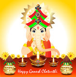Abstract Ganesh Chaturthi Background Royalty-vrije Stock Fotografie