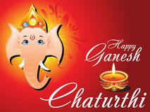 Abstract ganesh chaturthi card Royalty Free Stock Image