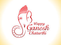 Abstract ganesha chaturthi background. Vector illustration royalty free illustration