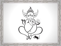 Abstract ganesha sketch Stock Images