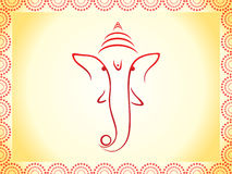 Abstract ganesha wallpaper Royalty Free Stock Photos