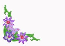Abstract geïsoleerds bloemenframe Royalty-vrije Stock Afbeelding