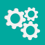 Abstract gear and cog wheels. Template. Flat desig Royalty Free Stock Images