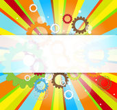 Abstract gear digital computer technology business background Royalty Free Stock Photo