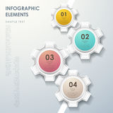 Abstract gear flow chart infographics Royalty Free Stock Image
