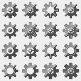 Abstract gear icons. Royalty Free Stock Photos