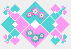 Abstract gear mechanism background Stock Image