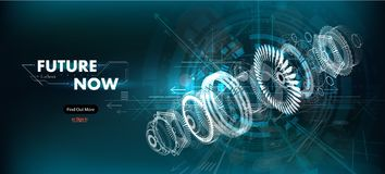 Free Abstract Gear Wheel Mechanism Background Royalty Free Stock Photography - 144817617