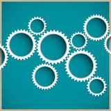 Abstract gear wheels Royalty Free Stock Image
